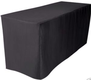 fitted black tablecloth
