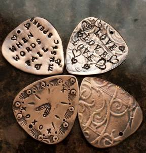 copper guitar picks 5